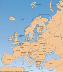 Северное изменение карта