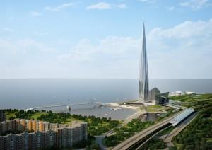 Лахта-Центр: здание-символ на намытой береговой территории в Невской губе